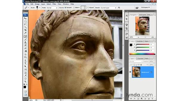 Aligning multiple brushstrokes: Photoshop CS3 One-on-One: The Essentials