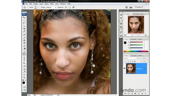 Adding drama with the Toning tools: Photoshop CS3 One-on-One: The Essentials