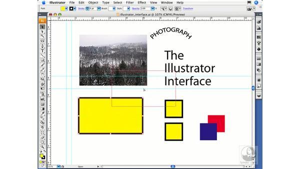 Utilizing the bounding box: Illustrator CS3 Essential Training