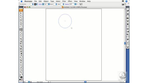 Using the basic shapes tools: Illustrator CS3 Essential Training