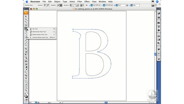 Editing anchor points: Illustrator CS3 Essential Training
