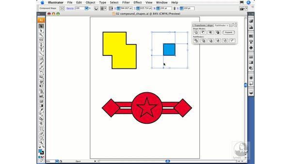Creating compound shapes: Illustrator CS3 Essential Training