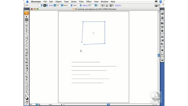 Joining and averaging paths: Illustrator CS3 Essential Training