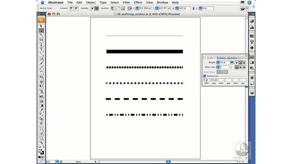 Outlining strokes: Illustrator CS3 Essential Training