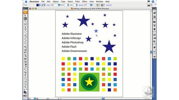 Using the basic selection tools: Illustrator CS3 Essential Training