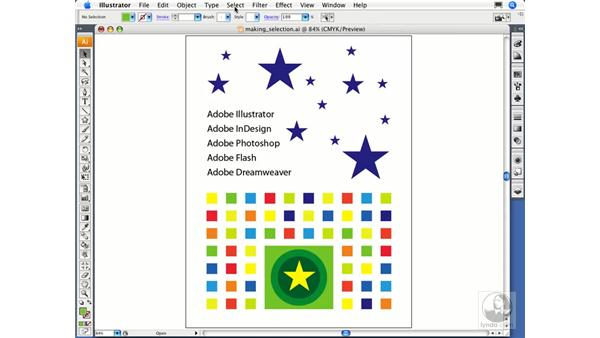 Selecting objects by attribute: Illustrator CS3 Essential Training