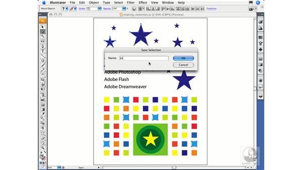 Saving and reusing selections: Illustrator CS3 Essential Training