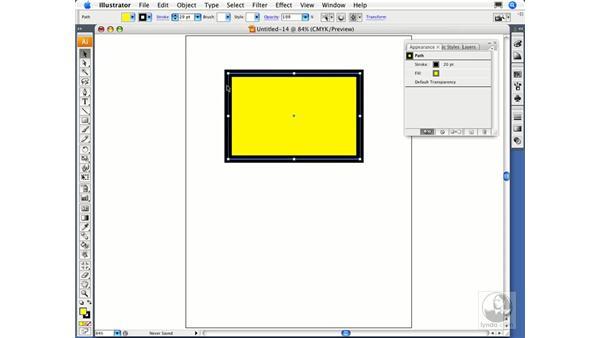 Using the Appearance panel: Illustrator CS3 Essential Training
