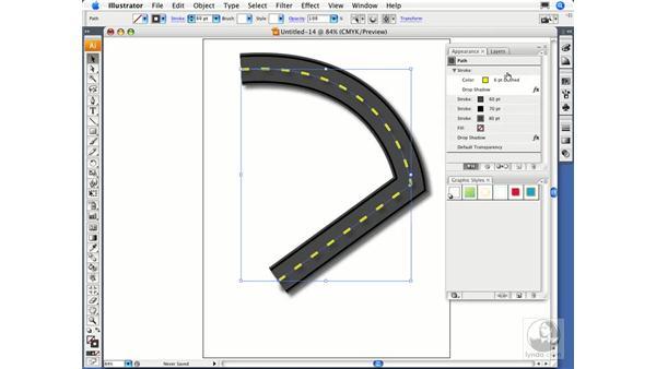 Creating graphic styles: Illustrator CS3 Essential Training