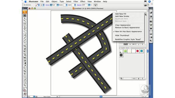 Modifying graphic styles: Illustrator CS3 Essential Training