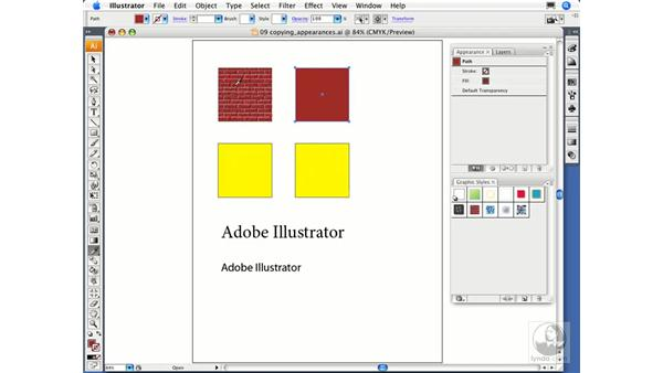 Copying appearance: Illustrator CS3 Essential Training