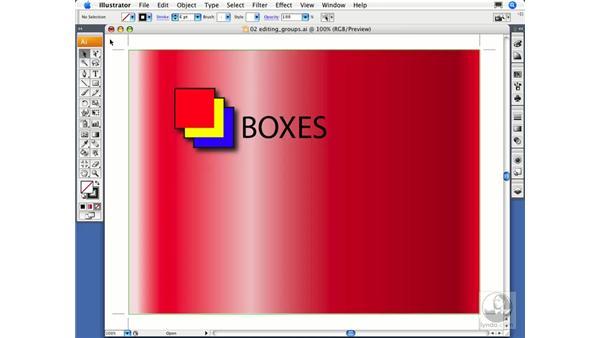Editing groups: Illustrator CS3 Essential Training