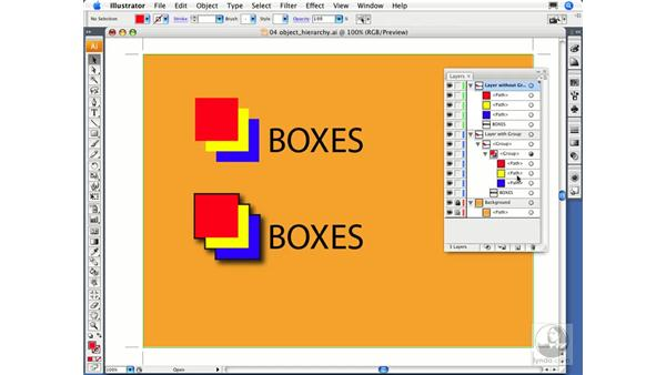 Layers and object hierarchy: Illustrator CS3 Essential Training