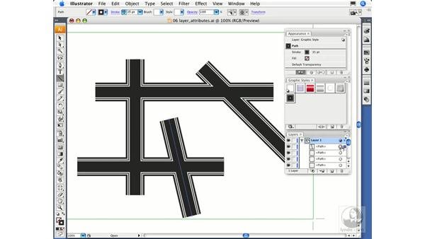 Object, group, and layer attributes: Illustrator CS3 Essential Training