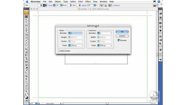 Dividing an object into a grid: Illustrator CS3 Essential Training