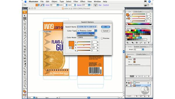 Defining swatches: Illustrator CS3 Essential Training