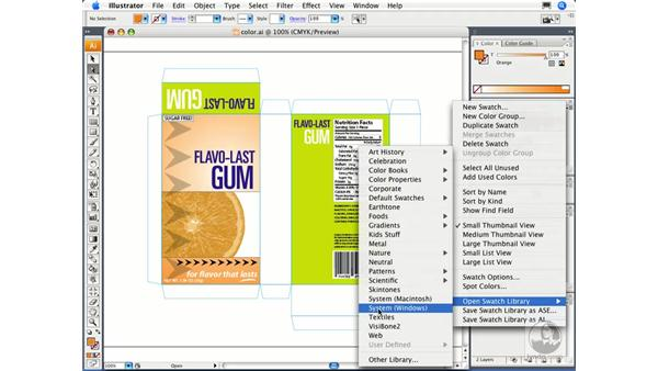 Creating swatch groups and libraries: Illustrator CS3 Essential Training