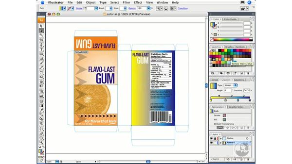 Working with gradients: Illustrator CS3 Essential Training