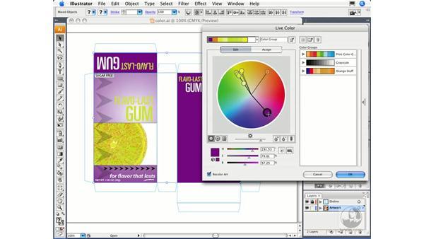 Experimenting with color: Illustrator CS3 Essential Training