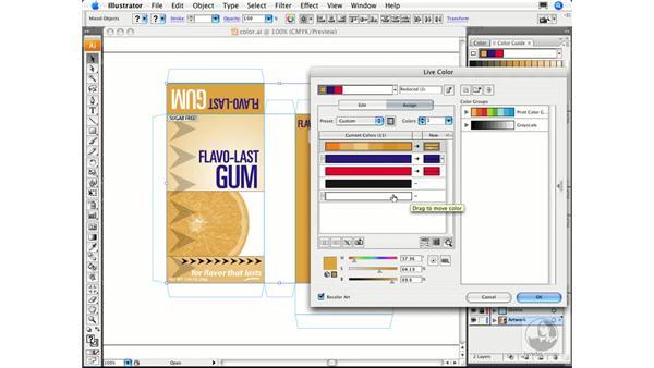 Modifying color in artwork: Illustrator CS3 Essential Training