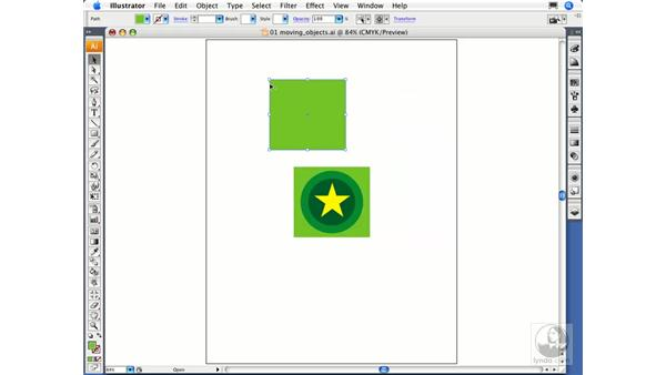 Moving and copying objects: Illustrator CS3 Essential Training