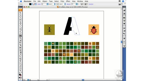 Reflecting and skewing objects: Illustrator CS3 Essential Training