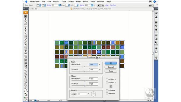 Using the Transform Each function: Illustrator CS3 Essential Training