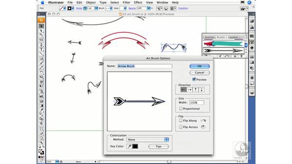 Creating an art brush: Illustrator CS3 Essential Training