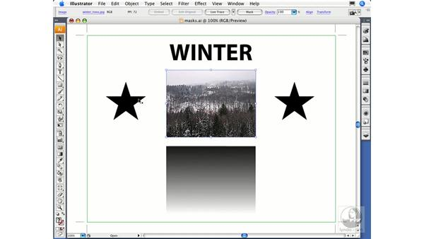Understanding clipping masks: Illustrator CS3 Essential Training