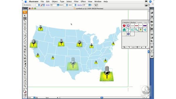 Editing symbols: Illustrator CS3 Essential Training