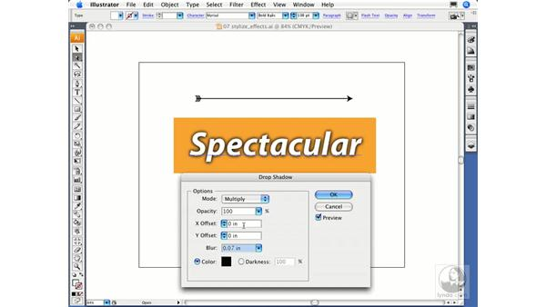 Using the Stylize effects: Illustrator CS3 Essential Training