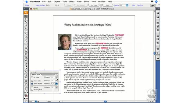 Wrapping text around objects: Illustrator CS3 Essential Training