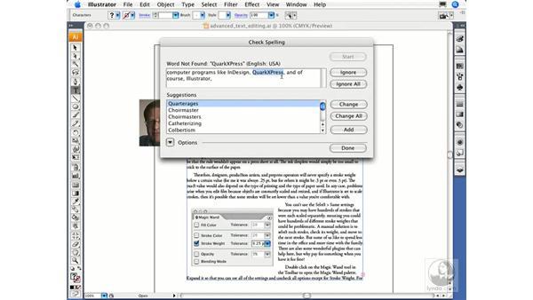 Checking spelling: Illustrator CS3 Essential Training