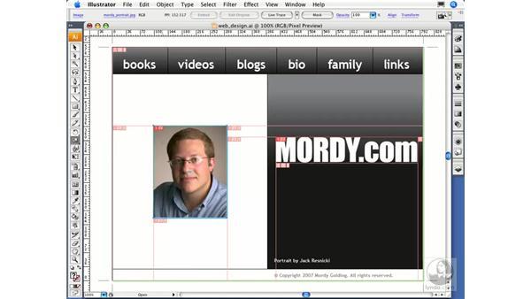Specifying web slicing: Illustrator CS3 Essential Training