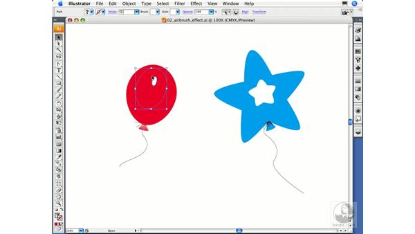 Using a blend to create an airbrush effect: Illustrator CS3 Essential Training