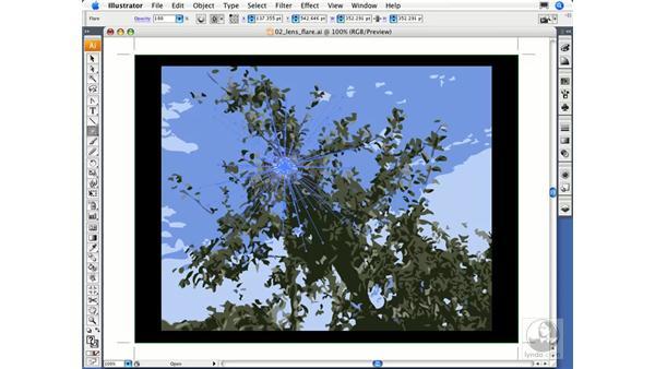 Creating a lens flare: Illustrator CS3 Essential Training