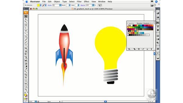 Using Gradient Mesh: Illustrator CS3 Essential Training