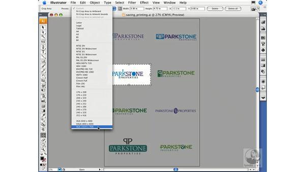 Using the Crop Area tool: Illustrator CS3 Essential Training