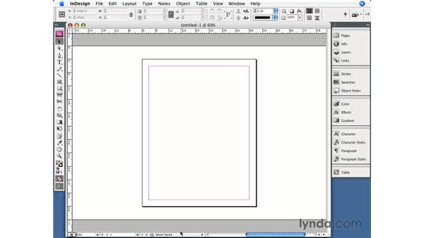 The Document window: InDesign CS3 Essential Training