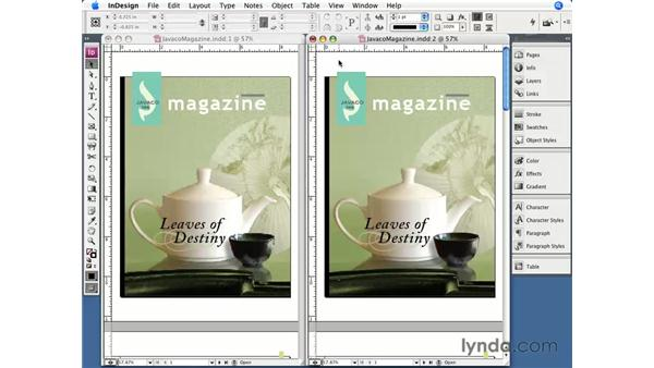Opening a new window: InDesign CS3 Essential Training