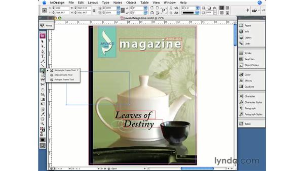 The Tool panel: InDesign CS3 Essential Training