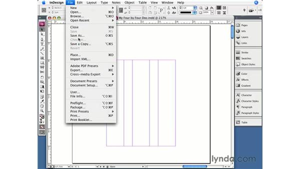 Saving documents: InDesign CS3 Essential Training