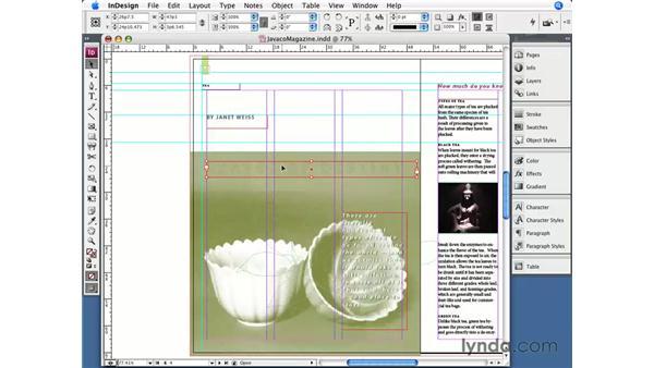 Using Undo: InDesign CS3 Essential Training