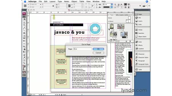 Sections, page numbers, and chapter numbers: InDesign CS3 Essential Training