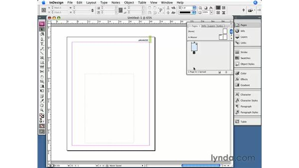 Creating and applying master pages: InDesign CS3 Essential Training