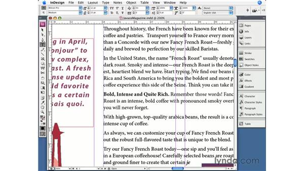 Typing and editing text: InDesign CS3 Essential Training