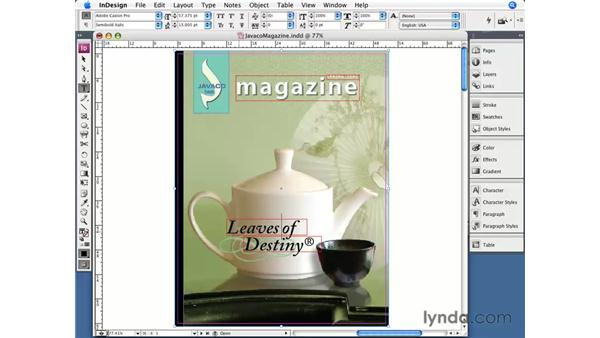 Special characters: InDesign CS3 Essential Training