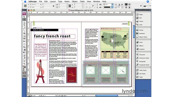 Importing graphics: InDesign CS3 Essential Training