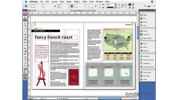 Importing graphics: InDesign CS3 Essential Training