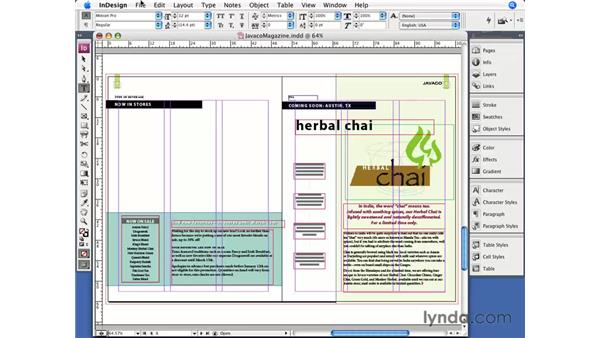 Importing InDesign files: InDesign CS3 Essential Training
